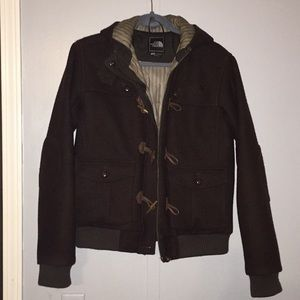 Women's large brown thick The North Face jacket.